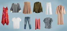"""No matter how large your closet, chances are you've stood in front of it and declared, """"I have nothing to wear."""" That's the tricky thing about clothes—more isn't necessarily more. What if we told you that with only ten pieces, you could look great for two whole weeks? Christina, our director of personal styling, did …"""