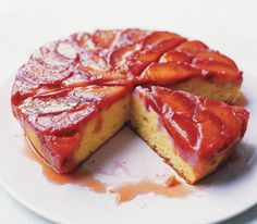 Plum Upside-Down Cake. This was fabulous. We made two, to feed my whole family. Everyone loved it.