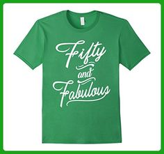 Mens Fifty and Fabulous Fun Birthday Over The Hill Tee Shirt Small Grass - Birthday shirts (*Amazon Partner-Link)
