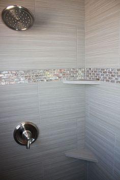 Tile design in master bathroom shower Tile design in master bathroom shower Master Bathroom Shower, Tiny House Bathroom, Bathroom Showers, Bling Bathroom, Bathroom Small, Modern Bathroom, Glitter Bathroom, Simple Bathroom, White Bathroom