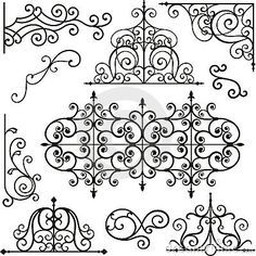 Ornamento Do Ferro De Wrough Fotografia de Stock Royalty Free - Imagem: 3739407