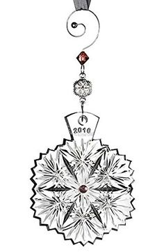 2016 Waterford Snowflake Wishes For Serenity Leana Crystal Christmas Ornament