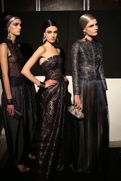 Backstage at Armani Privé Couture Spring 2014 [Photo by Delphine Achard]
