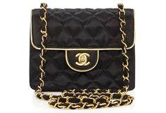 Chanel-Black-Satin-Mini-Flap-Bag