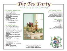 Tea Party Menu Ideas (appetizers & sandwiches)
