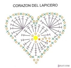 Crochet heart diagram flowerstoysetc pinterest heart diagram crochet heartscrochet heart patternscrochet ccuart Images