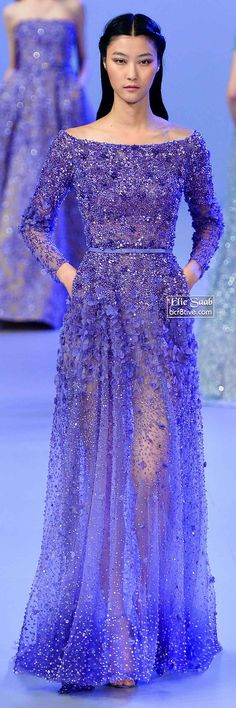 Elie Saab Spring 2014 Couture Collection I'd prefer the color to be less neon, but it is still jaw dropping