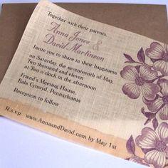 Fabric Wedding Invitations!