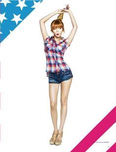 Hyuna for Guess Kim Hyuna, All About Kpop, Jay Park, Cube Entertainment, Red Shirt, Maze Runner, Vixx, Girl Costumes, Asmr