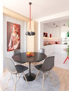 Using red in a home design can be tricky. Without a good idea, a design can quickly fall from romance into sensory overload. To avoid a home that looks more lik