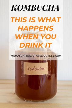 The beginner's guide on kombucha, what it is, and why you need it in your daily health routine. Simple facts about the health benefits of daily kombucha. Kombucha Drink, Kombucha Recipe, Kombucha Flavors, Kefir, Health Tips, Health And Wellness, Gut Health, Fermentation Recipes, Healthy Foods