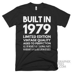 Fabulous tee Built in 1984 Limited Edition Aged To Perfection Birthday Shirt