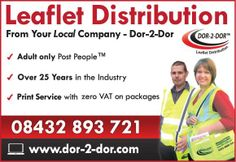 Dor-2-Dor offers you a genuine and reliable leaflet distribution service. Franchise opportunities also available - http://www.dor2dor.com