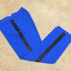Royal blue tuxedo slacks Like new!! Beautiful color!! Tuxedo Royal blue slacks with black trimming on the side. New York and Company brand. Size 2 New York & Company Pants Ankle & Cropped