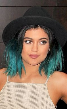 Blue's Back from Kylie Jenner's Hair Evolution Looks like that Kelly green color was just a rinse (or an Instagram filter)!