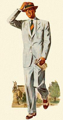 Warm Weather Suit 1949 Golffashion Mens Fashion Classic Vintage Mens Fashion Fashion Illustration Vintage