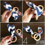 DIY wooden teething ring - wait for your dad to come home - Baby - Baby Diy Wooden Teething Ring, Diy Teething Toys, Diy Teething Rings, Baby Teething, Diy Bebe, Baby Sewing Projects, Baby Crafts, Diy Toys, Wooden Diy