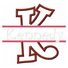 INSTANT DOWNLOAD K Split Applique Embroidery by KatelynsDesign, $2.50
