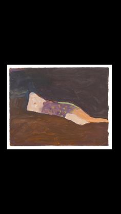 """Nathan Oliveira - """" Woman #1 """", 1961 - Oil on paper - 26,7 x 33 cm"""