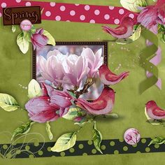 New in store Magnolia by Happy Scrap Art and is available at  http://scrapfromfrance.fr/shop/index.php?main_page=index&manufacturers_id=92  and a Quickpage for Free