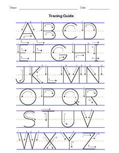 Free printable alphabet worksheets, Preschool writing and pattern ...