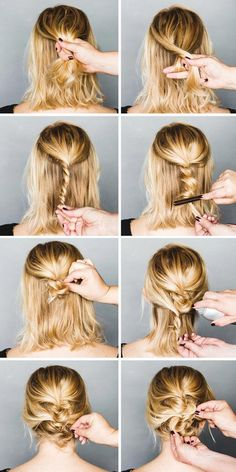 Cute messy updo #hair #hairstyle #womentriangle