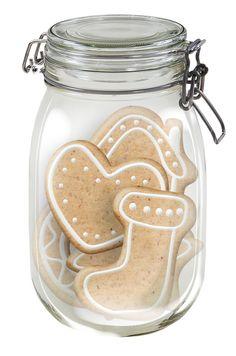 CHRISTMAS MASON JAR OF GINGERBREAD COOKIES *