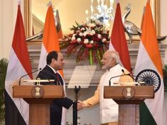 India News Today : India, Egypt sign Pact on Maritime Transport . PM Modi with Abdel Fattah el-Sisi,