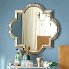 Wisteria - Mirrors & Wall Decor - Mirrors - All Mirrors - Silver Mughal Mirror - $549.00