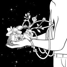Show Me Your Heart #hennkim #henn #art #illustration #drawing #sketch #black #white #pen #inspire #creative #pintable