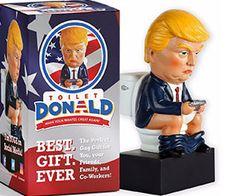 Trump Tweeting On The Toilet Figurine