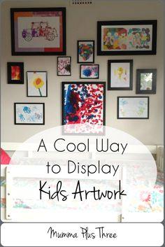 A Cool Way to Display Kids Art Work - Mumma Plus Three