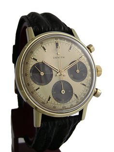 Vintage '60s Zenith chronograph with caliber 146HP movement.
