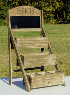Herb Display with Chalkboard #Wedding #Rental #WeddingRental #Vintage #Photography #Photoshoot #Houston #Spring #Tomball #Woodlands #Katy #Texas #SomethingGoodeVintageRentals #SomethingGoode