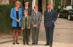Diana, Princess of Wales, Harry,William and Charles, Prince of Wales.
