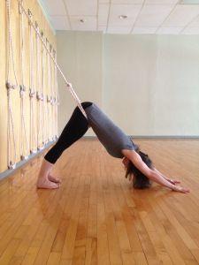 Adho Mukha Svanasana - lower rope inserted into upper rope