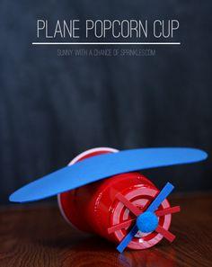 Disney Planes DIY plane popcorn cups and clothespins crafts #OwnDisneyPlanes #SoFab #shop