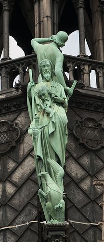 Notre-Dame de Paris spire - detail of verdigris copper statues of the twelve apostles | Flickr - Photo Sharing!