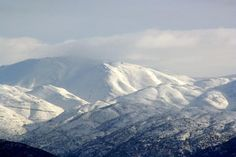 Snow covered Mount Hermon in #Israel.