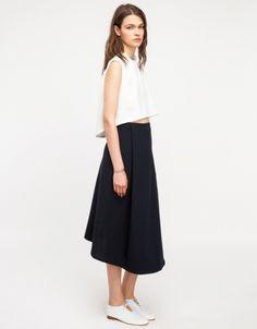 LOve Kaarem Stream Deep Pleated Midi Skirt