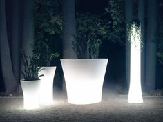 Illuminated Planters in pure design form online by potstore.co.uk