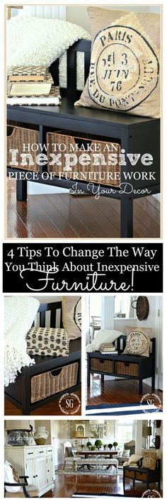 HOW TO MAKE AN INEXPENSIVE PIECE OF FURNITURE WORK IN YOUR DECOR Simple ways to make a piece of furniture look for expensive and fit in with what you have!