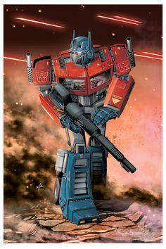 Autobot Leader Optimus Prime By Bad Flip Productions Gi Joe, Desenhos Hanna Barbera, Transformers Generation 1, Cartoon Logo, Transformers Optimus Prime, Cartoon Tv Shows, Classic Cartoons, Caricatures, Star Wars