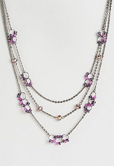 Chelsey Multi Bead Necklace, 9-0035975314, Chelsey Multi Bead Necklace Main View PGP #ChristopherandBanksLove