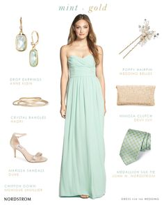 Monique Lhuillier Mint Bridesmaid Dresses