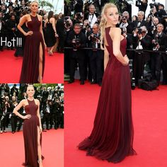 Blake Lively Cannes Celebrity Red Carpet Gowns 2015 Cheap Halter Prom Evening Dresses Colorful Sexy Split A-Line Formal Wedding Guest Gowns Online with $116.1/Piece on Sarahbridal's Store | DHgate.com