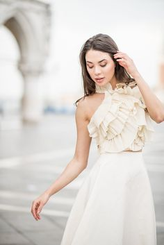 Romina Fochesatto is a bespoke wedding dress designer who focuses on couture design, hand embroidered details and luxurious draped fabric. Bridal Separates, Festival Dress, Industrial Wedding, Signature Style, Designer Wedding Dresses, Fashion History, Wedding Styles, Brides, Flower Girl Dresses