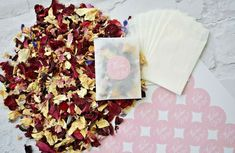 Biodegradable Confetti Natural Dried Flower Petals 20 Packets & Pink Stickers Biodegradable Confetti, Biodegradable Products, Confetti Cones, Wedding Confetti, Flower Petals, Dried Flowers, Wedding Decorations, Stickers, Amp