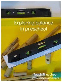 Exploring balance in preschool by Teach Preschool