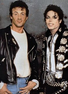 Sylvester Stallone et Michael Jackson © Photo sous Copyright Paris Jackson, Sylvester Stallone, Steven Seagal, The Jackson Five, Jackson Family, Chuck Norris, Keanu Reeves, Film Rambo, Elvis Presley